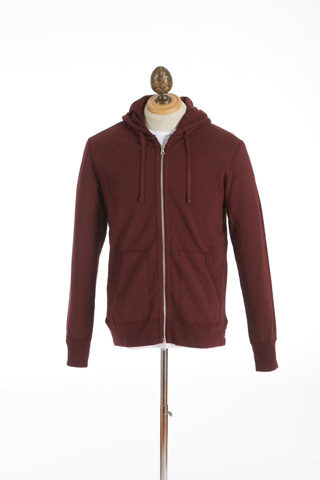 Reigning Champ Crimson Terry Full-Zip Hoodie Sweater