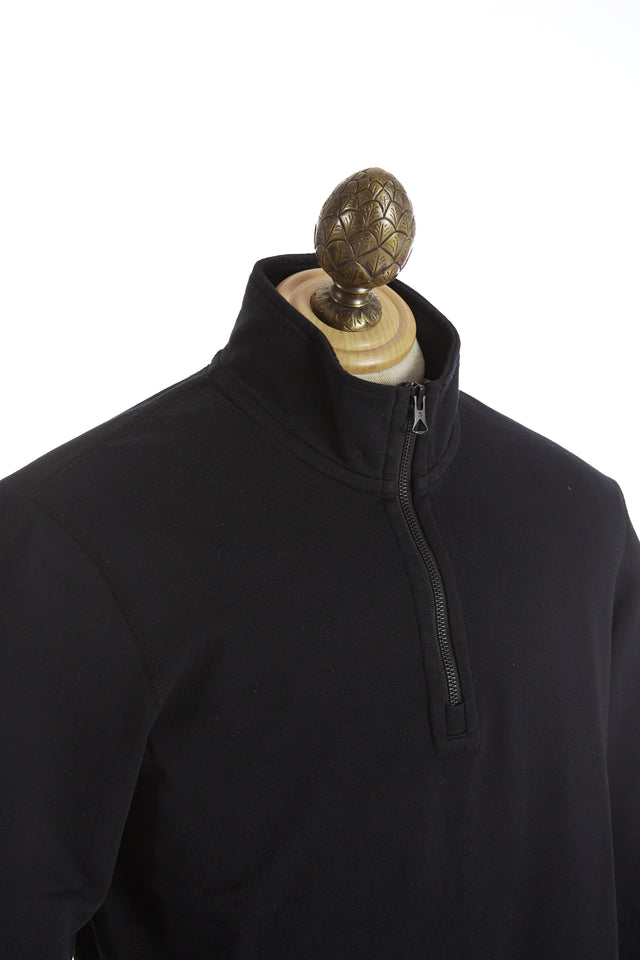 Reigning Champ French Terry Black Half Zip Pullover