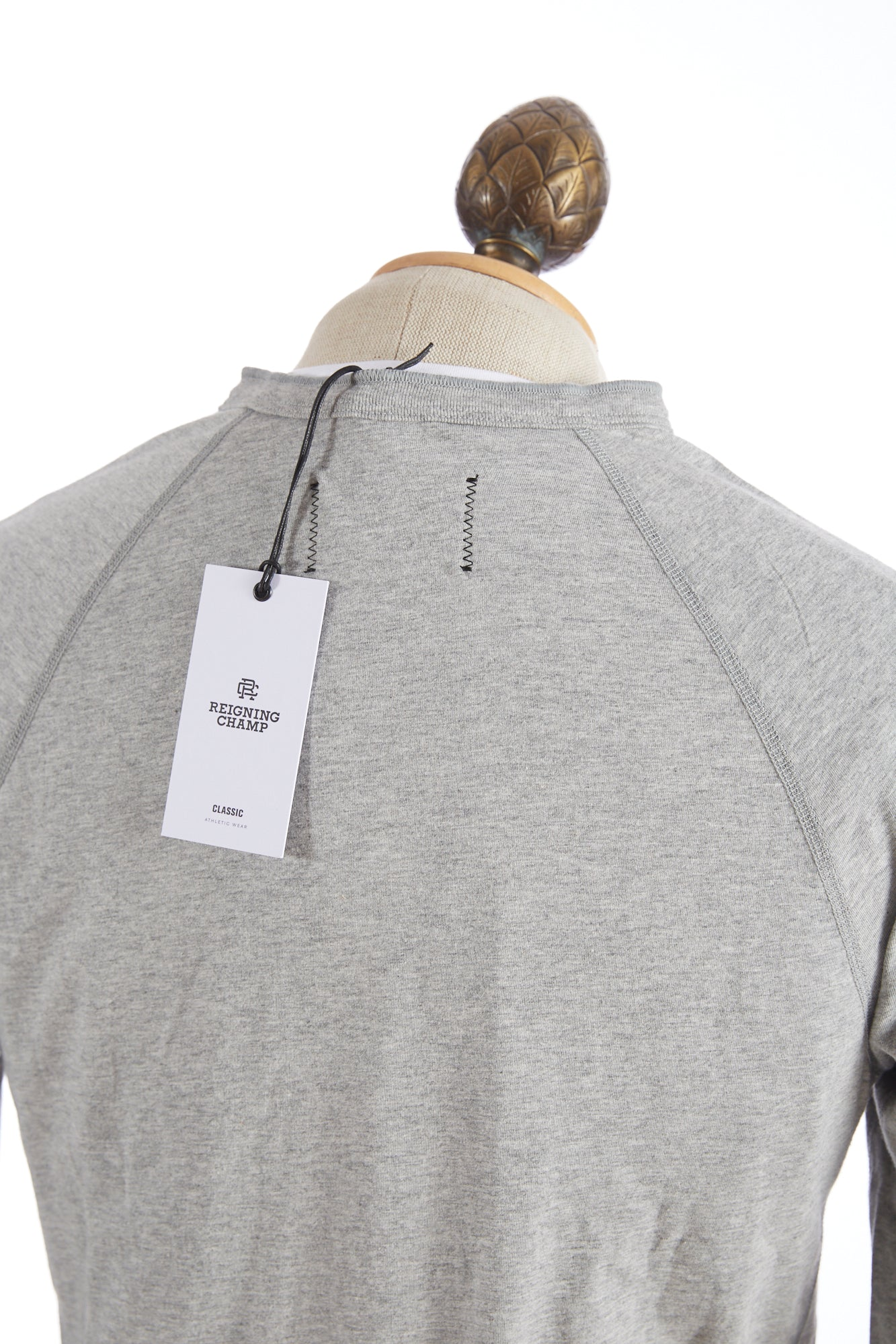Reigning Champ Grey Henley Long Sleeve T-Shirt