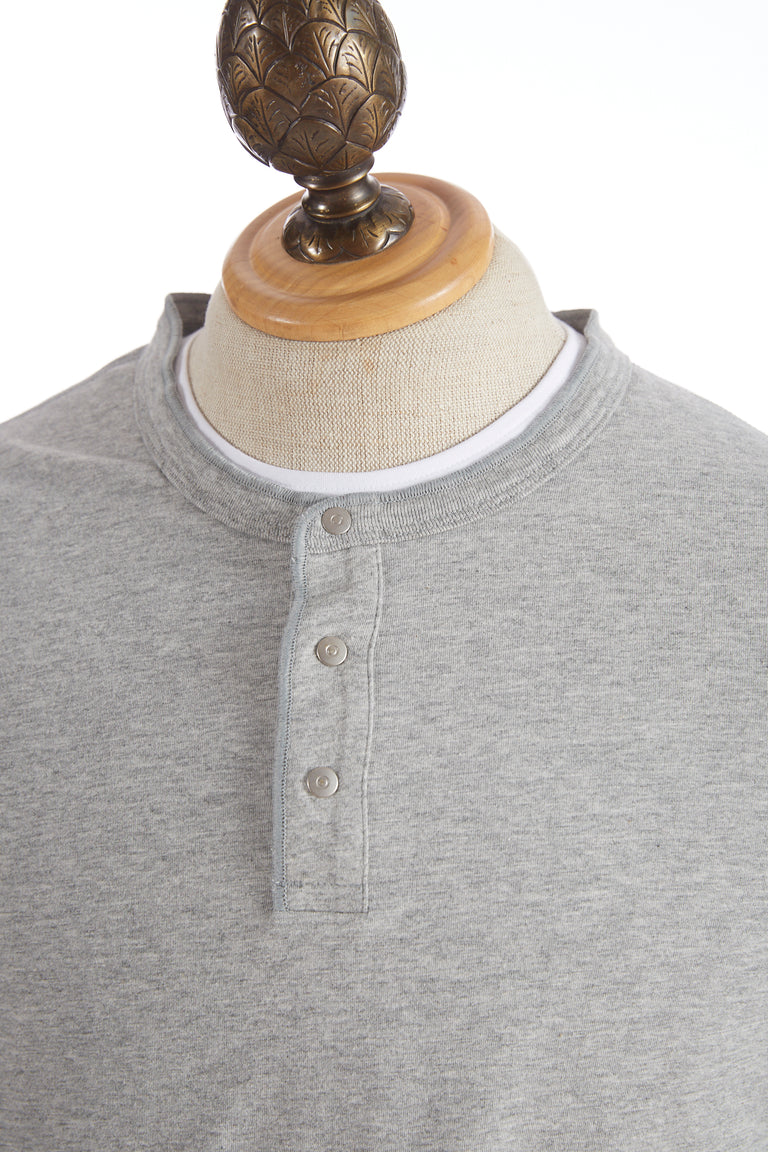 Reigning Champ Grey Long Sleeve Henley Shirt