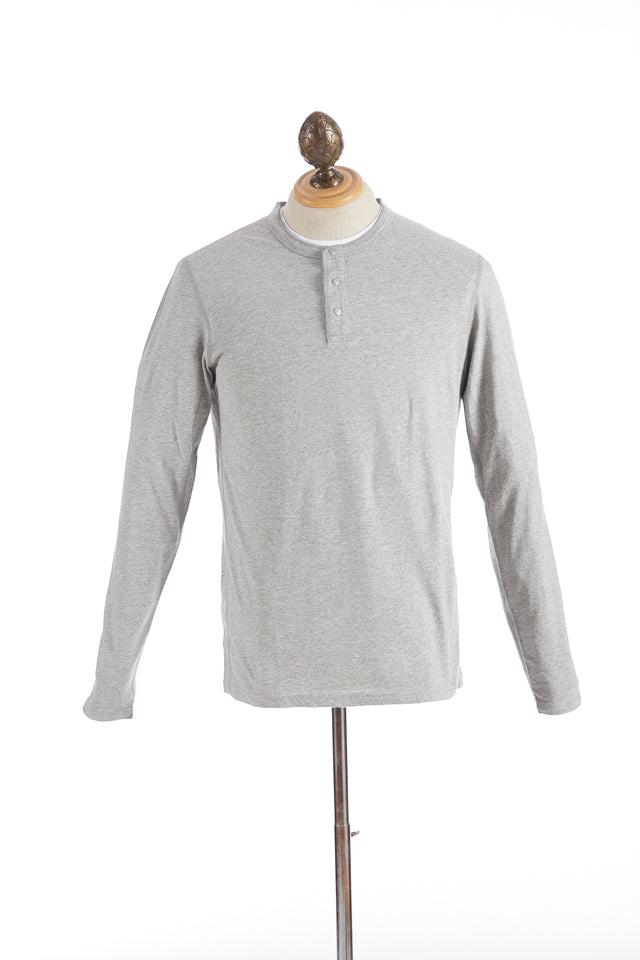 Reigning Champ Grey Long Sleeve Henley T-Shirt