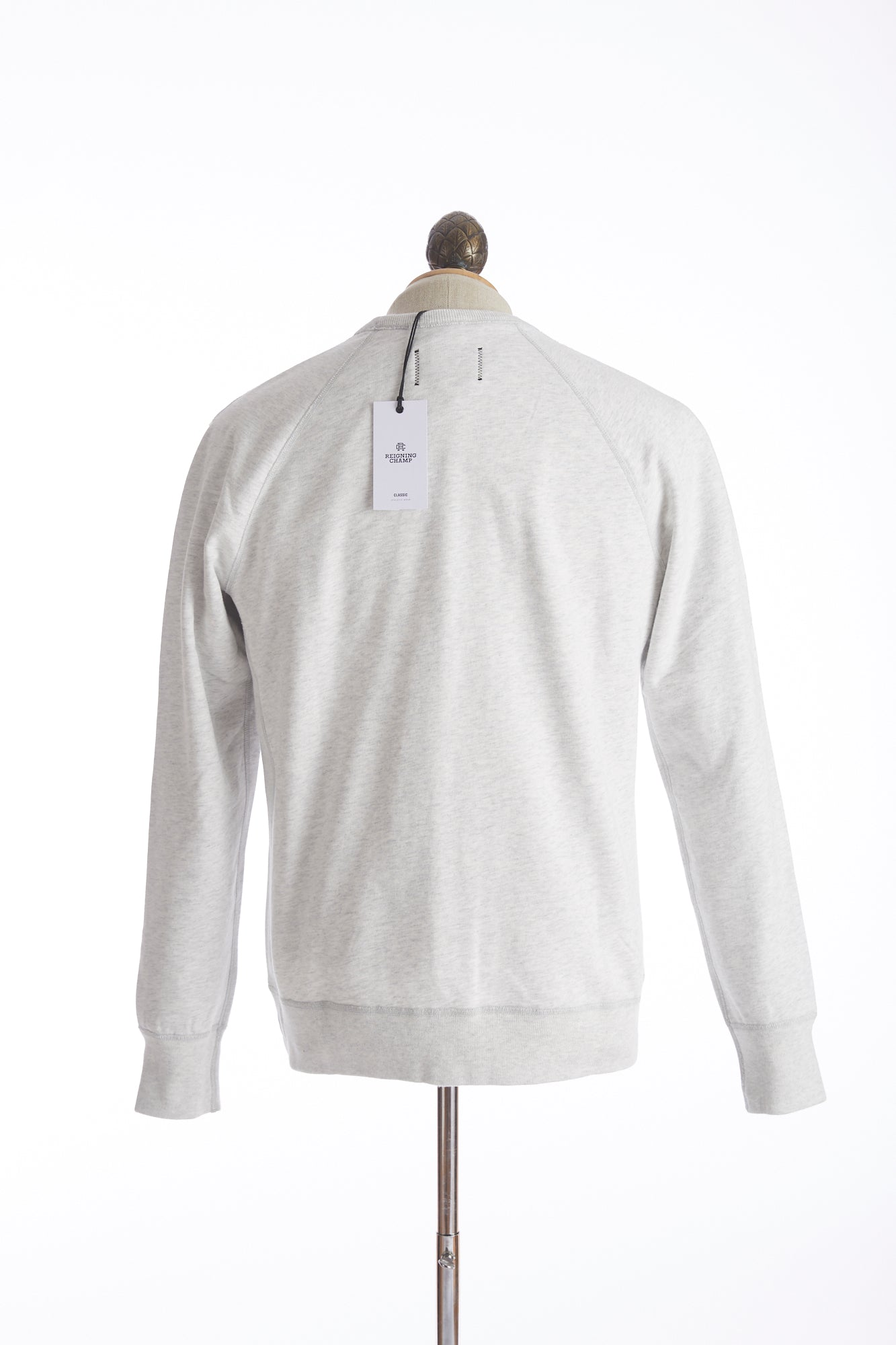 Reigning Champ Heather Ash Crewneck Sweater Back
