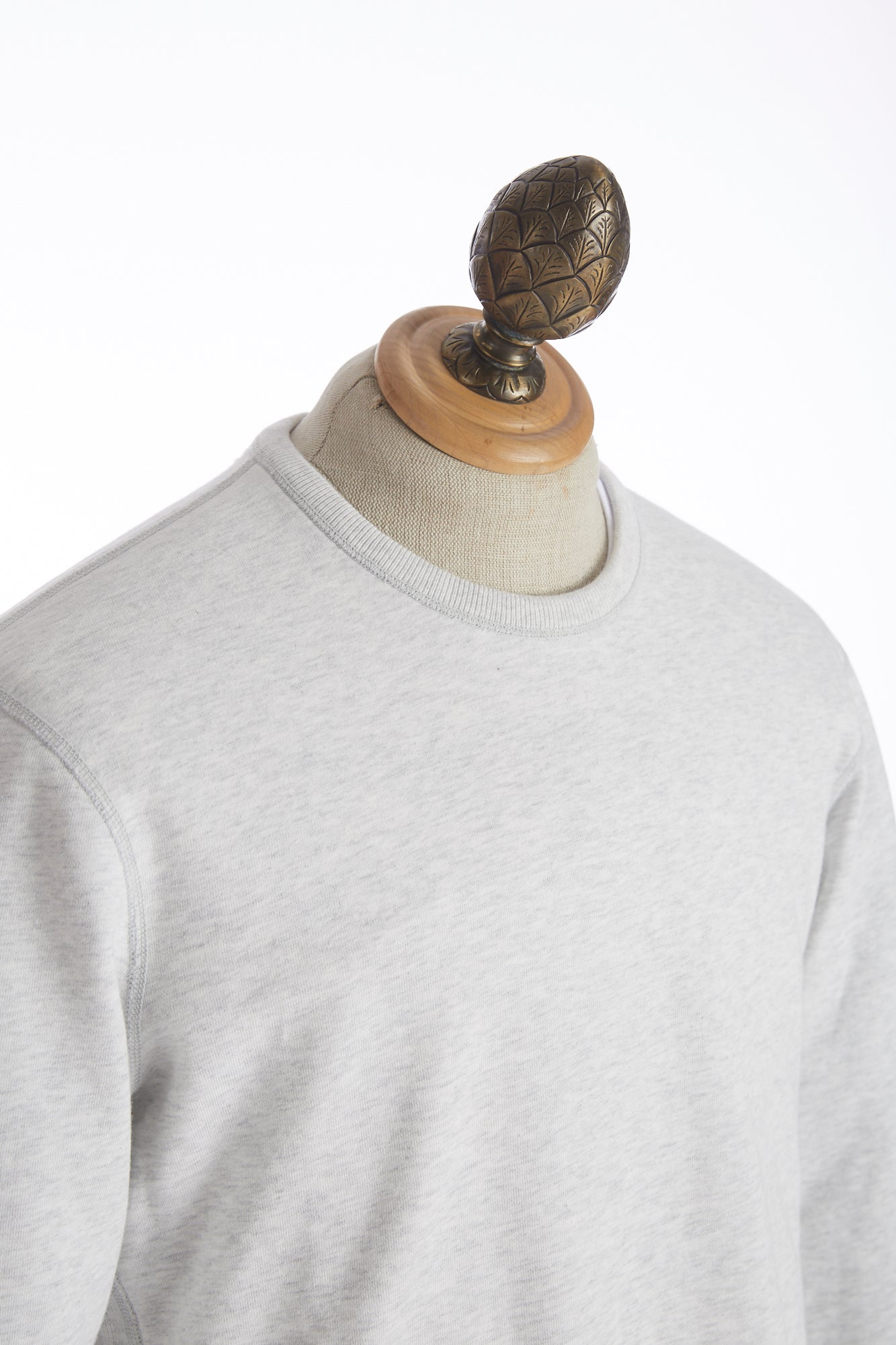 Reigning Champ Heather Ash Midweight Terry Crewneck Sweater