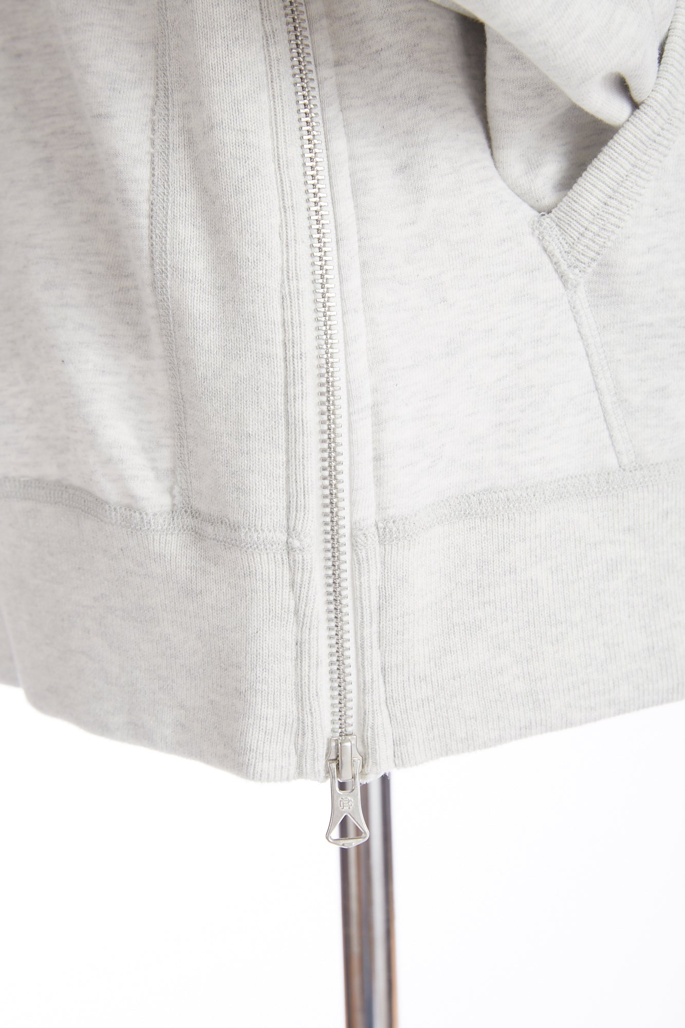 Reigning Champ Heather Ash Midweight Terry Side Zip