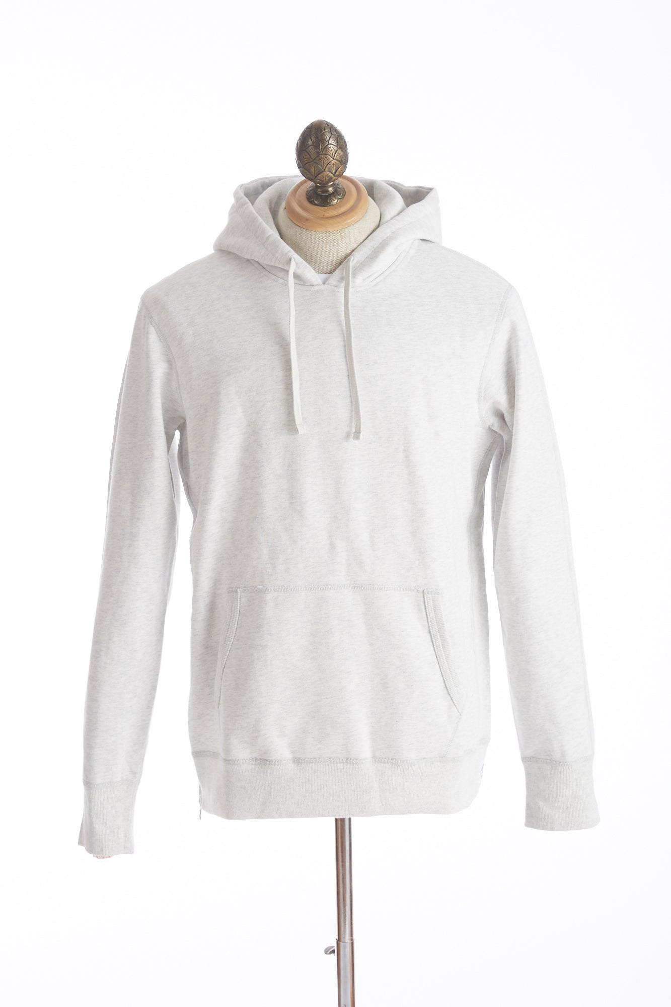 Reigning Champ Heather Ash Side Zip Pullover Hoodie