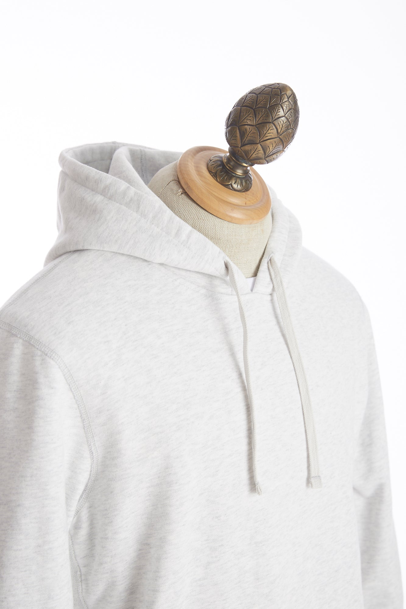 Reigning Champ Heather Ash Side Zip Pullover Hoodie Front
