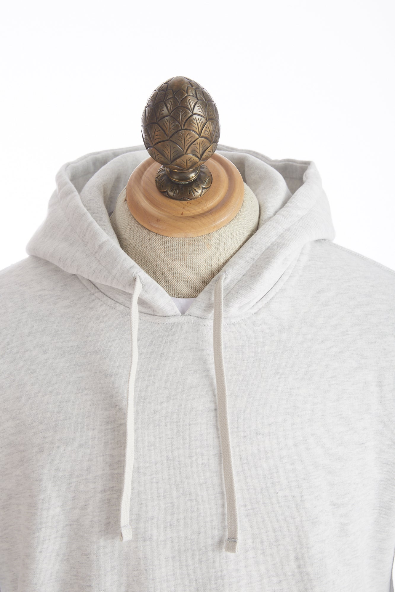 Reigning Champ Heather Ash Side Zip Pullover Hoodie Hood
