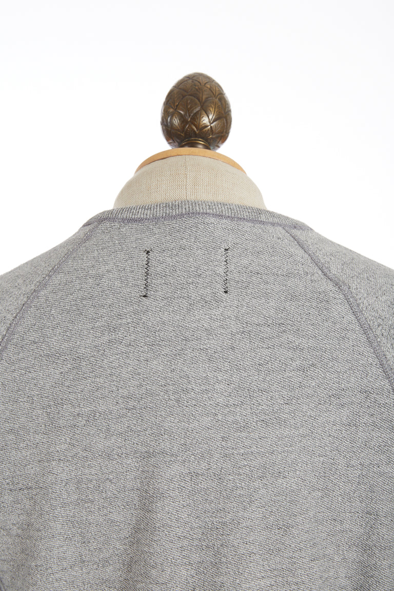 Reigning Champ Marled Grey Crewneck Sweater Back