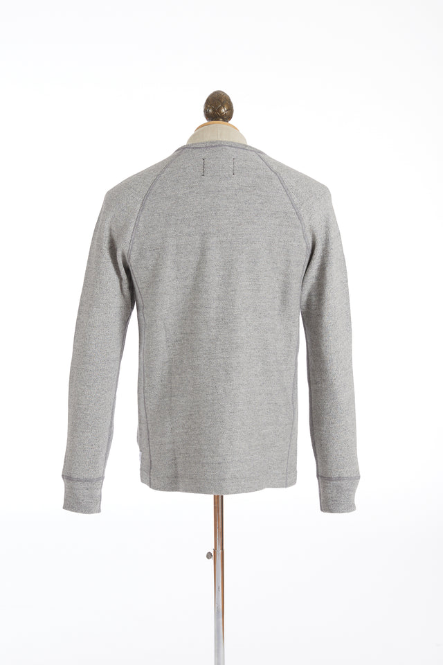 Reigning Champ Marled Grey Twill Terry Crewneck Sweater