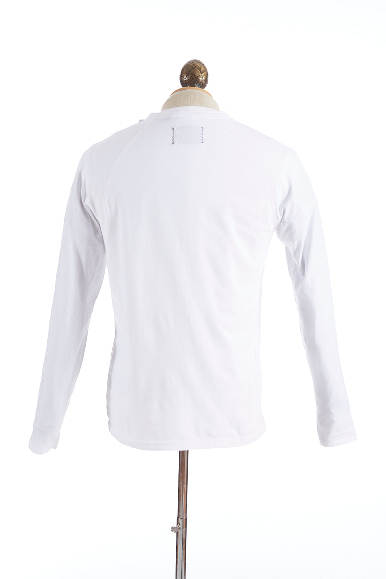 Reigning Champ White Long Sleeve Henley