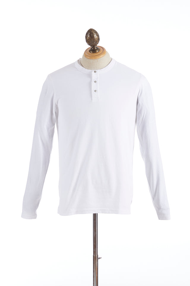 Reigning Champ White Long Sleeve Henley T-Shirt