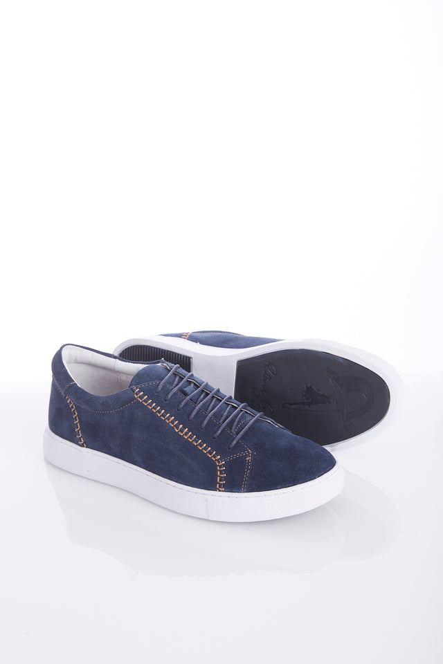 Robert Graham Navy 'Galle' Sneaker