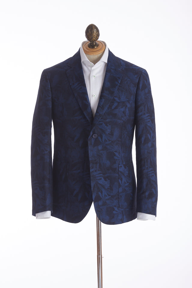 Robert Graham 'Buxons' Linen Palm Tree Sport Jacket