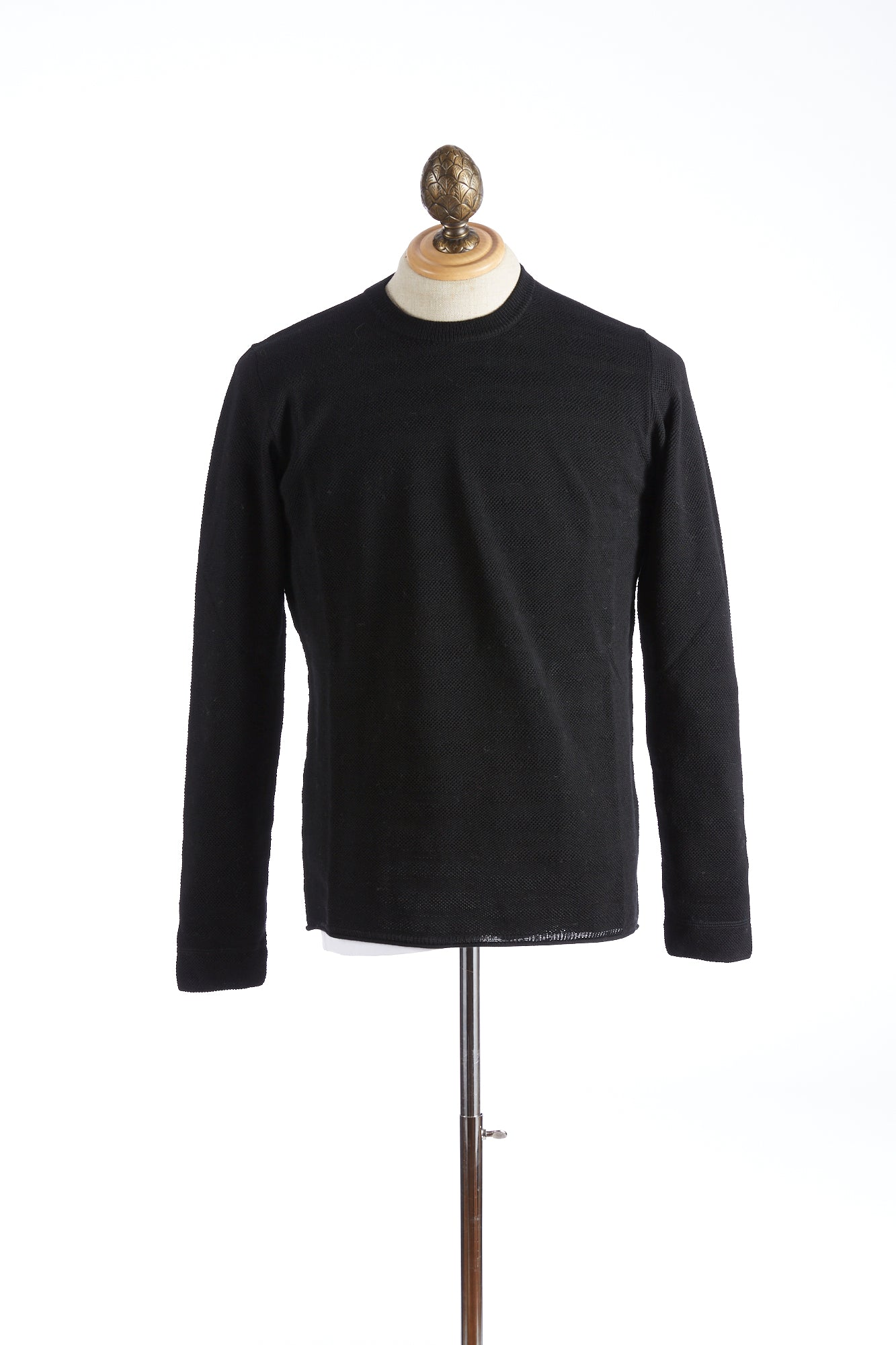 Roberto Collina Black Textured Stripe Sweater