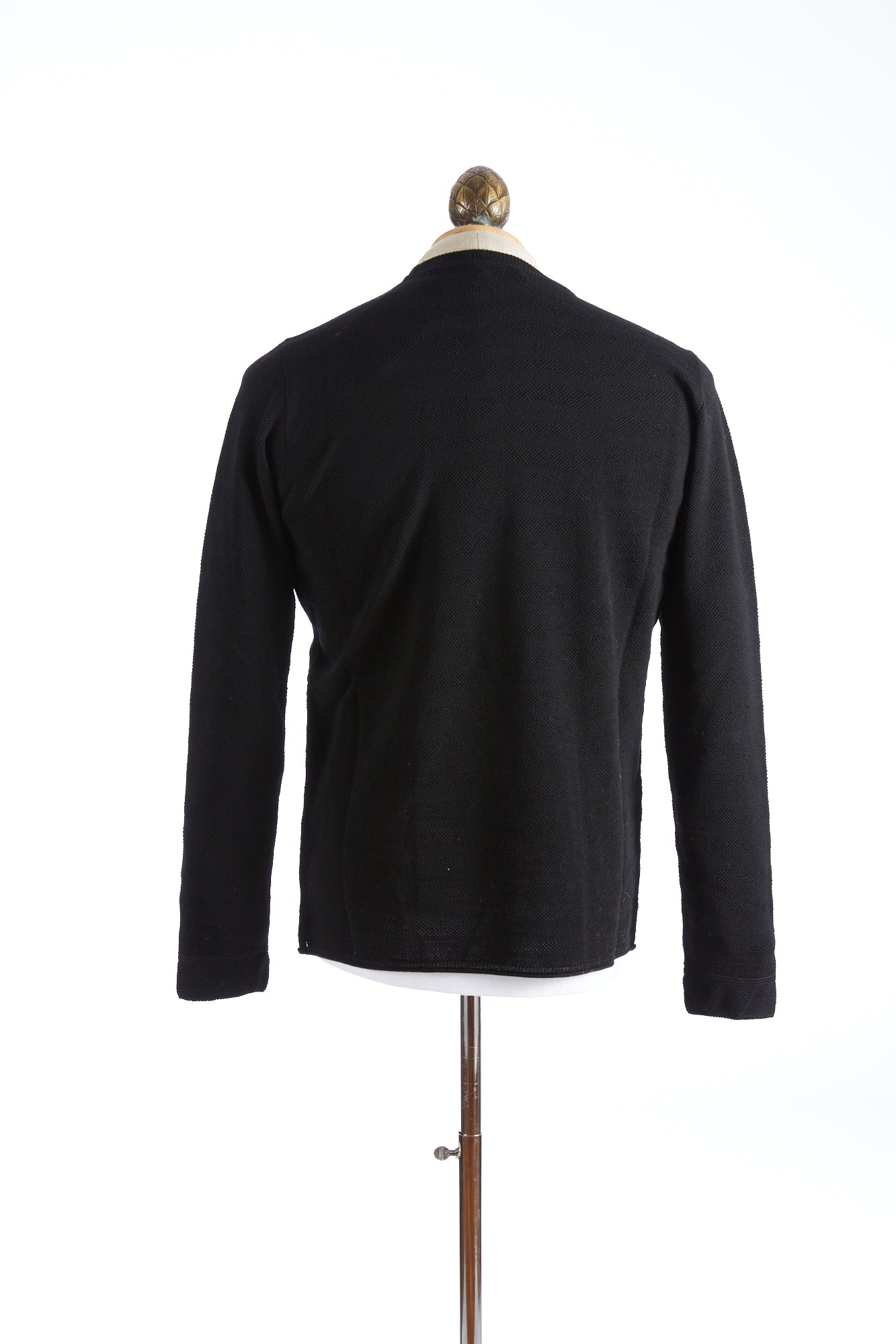 Roberto Collina Black Textured Stripe Sweater Back