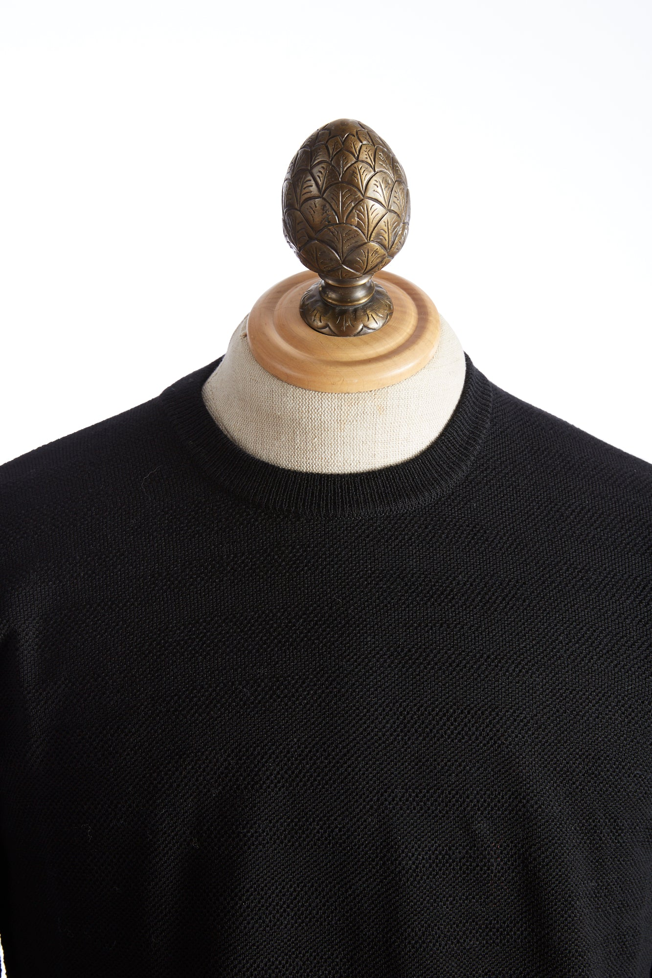 Roberto Collina Black Textured Stripe Sweater Front