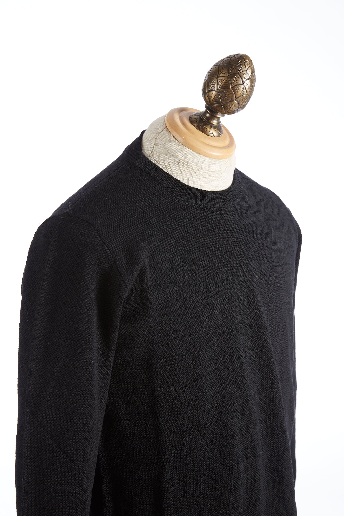 Roberto Collina Black Textured Stripe Sweater Side