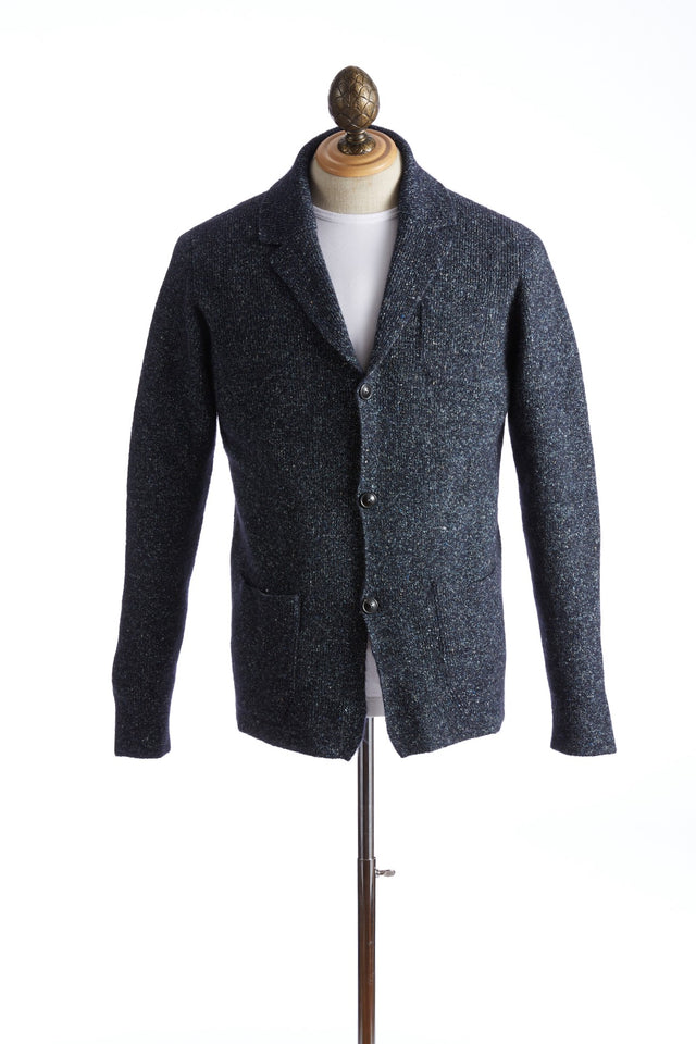 Roberto Collina Blue Donegal Cardigan