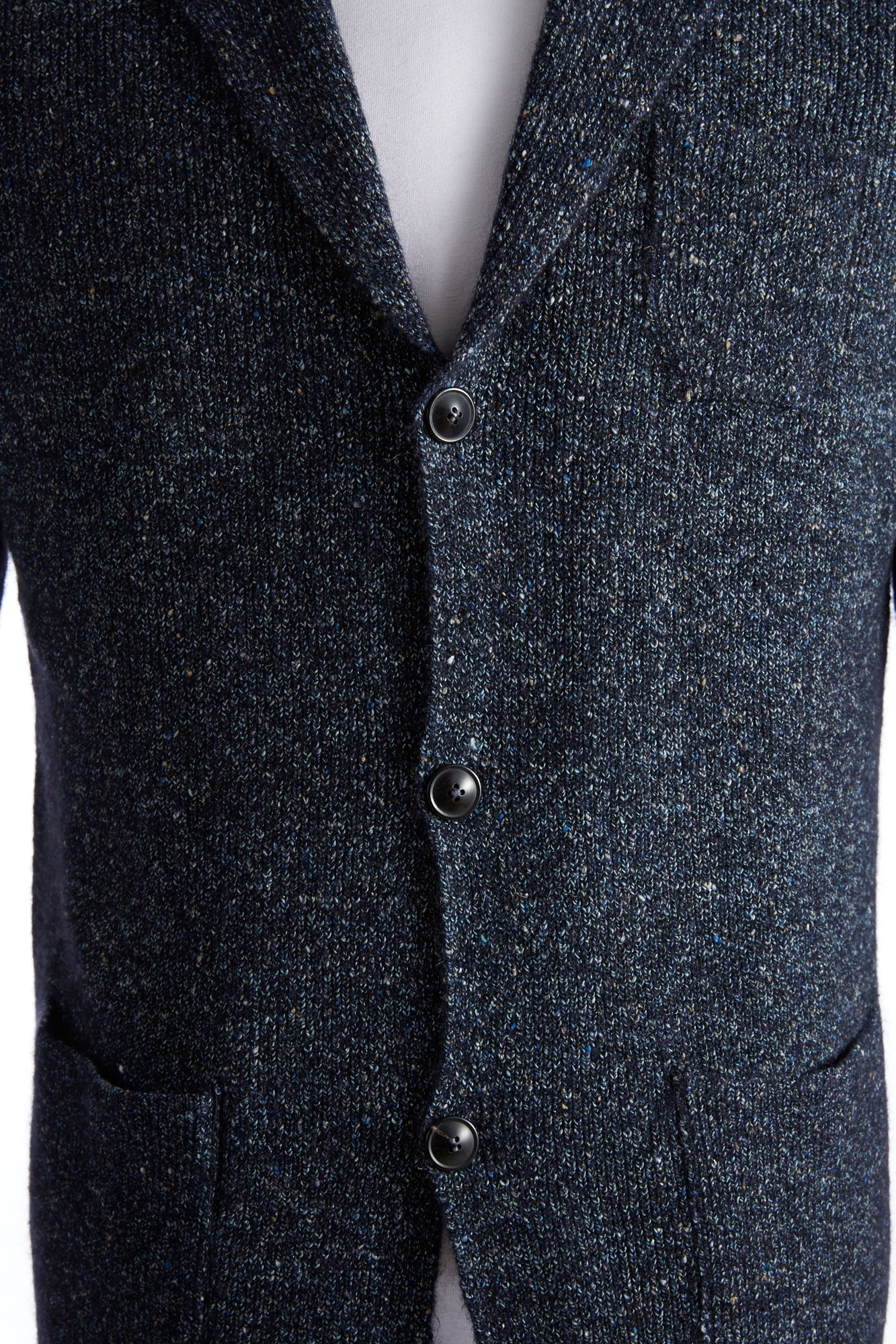 Roberto Collina Blue Donegal Cardigan Buttons