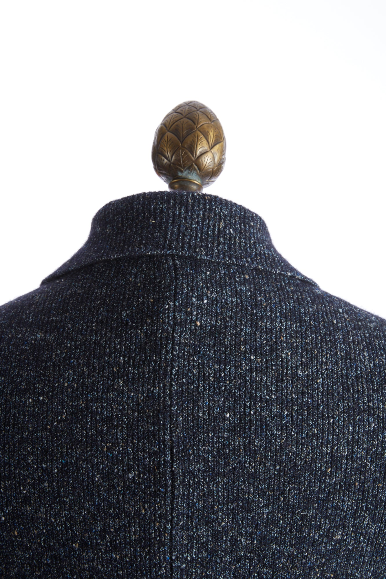 Roberto Collina Blue Donegal Cardigan Collar