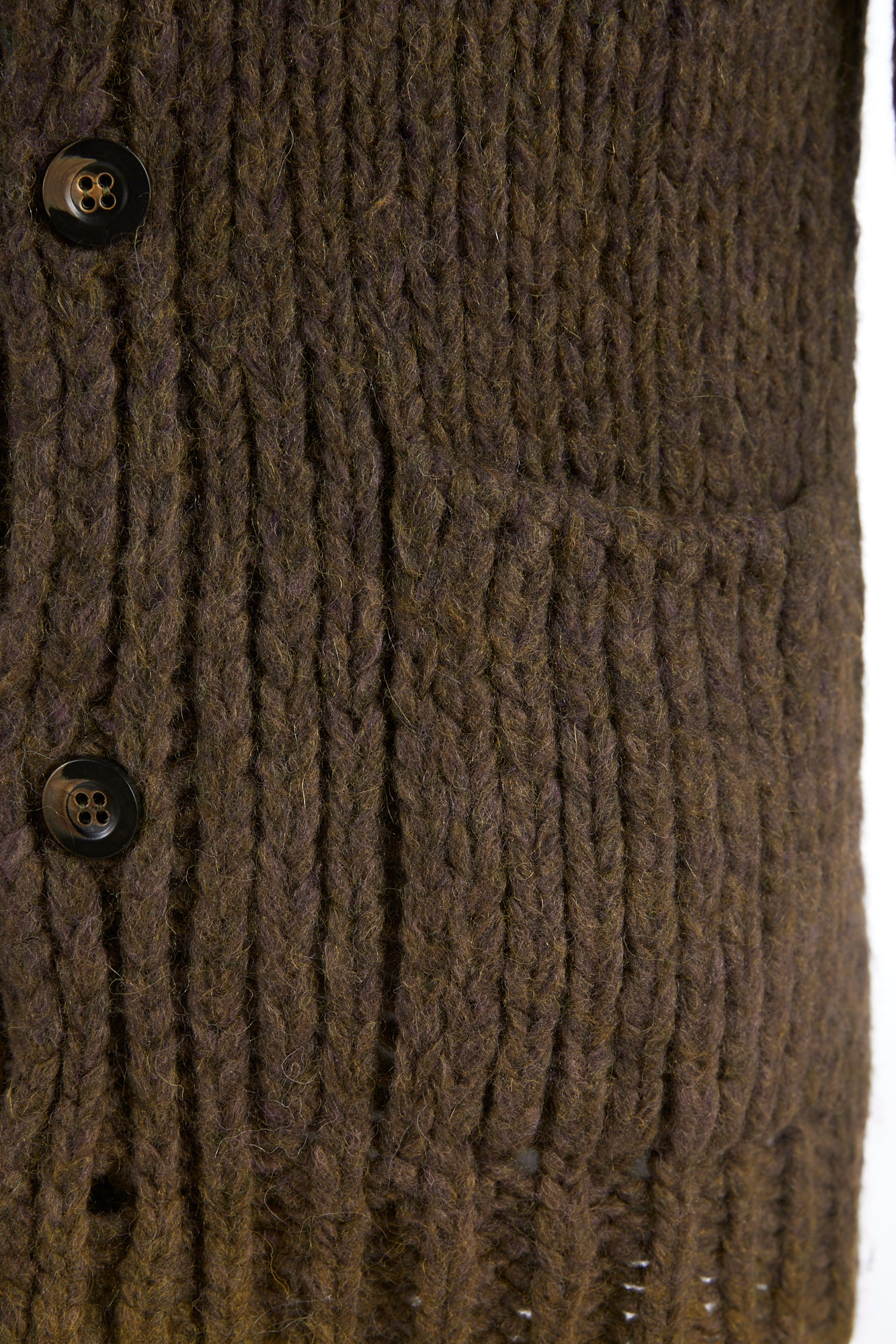 Roberto Collina Brown-Olive Dégradé Alpaca Long Cardigan Sweater