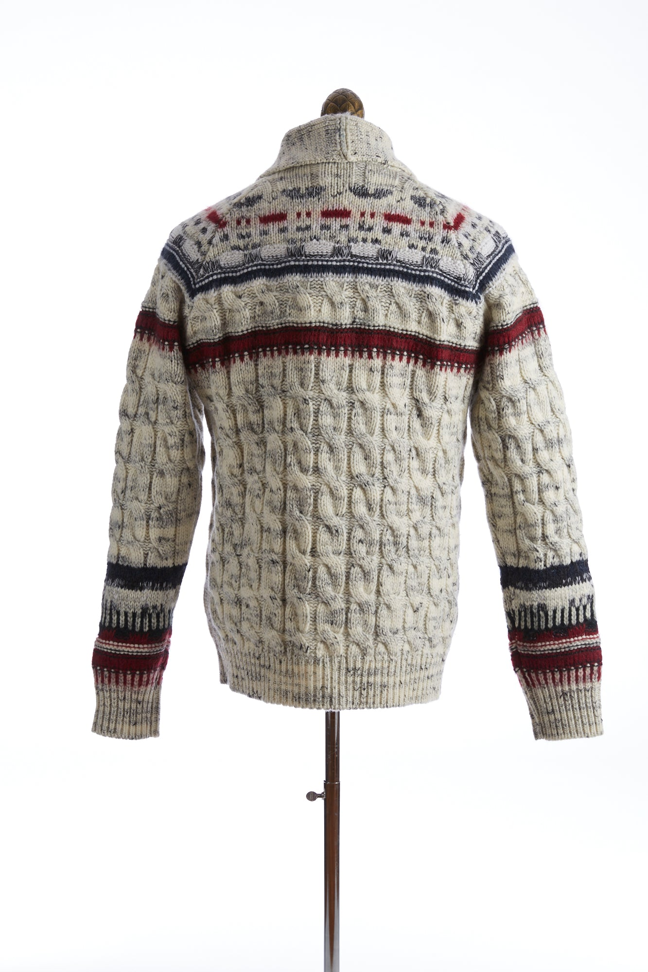 Roberto Collina Fair Isle Shawl Collar Cardigan Back