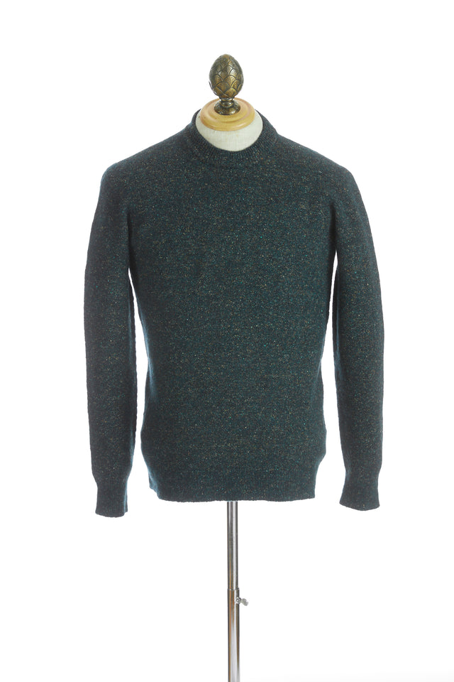Roberto Collina Green Melange Crewneck Sweater