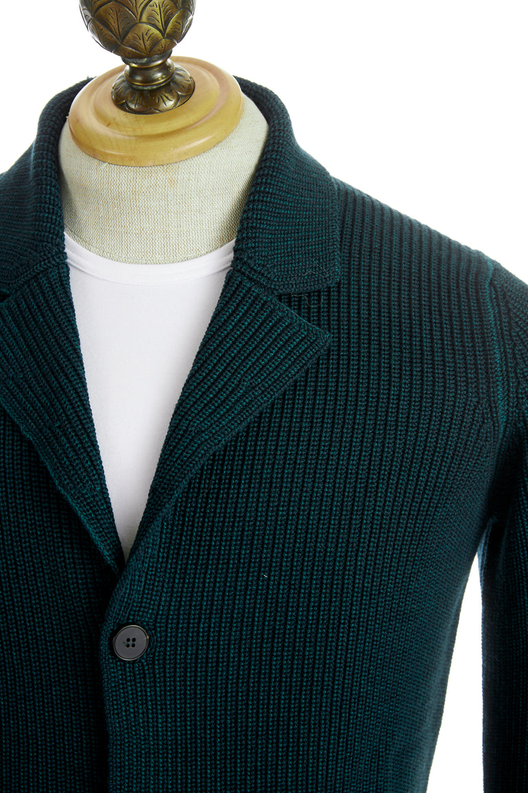 Roberto Collina Green Wool Cardigan Jacket