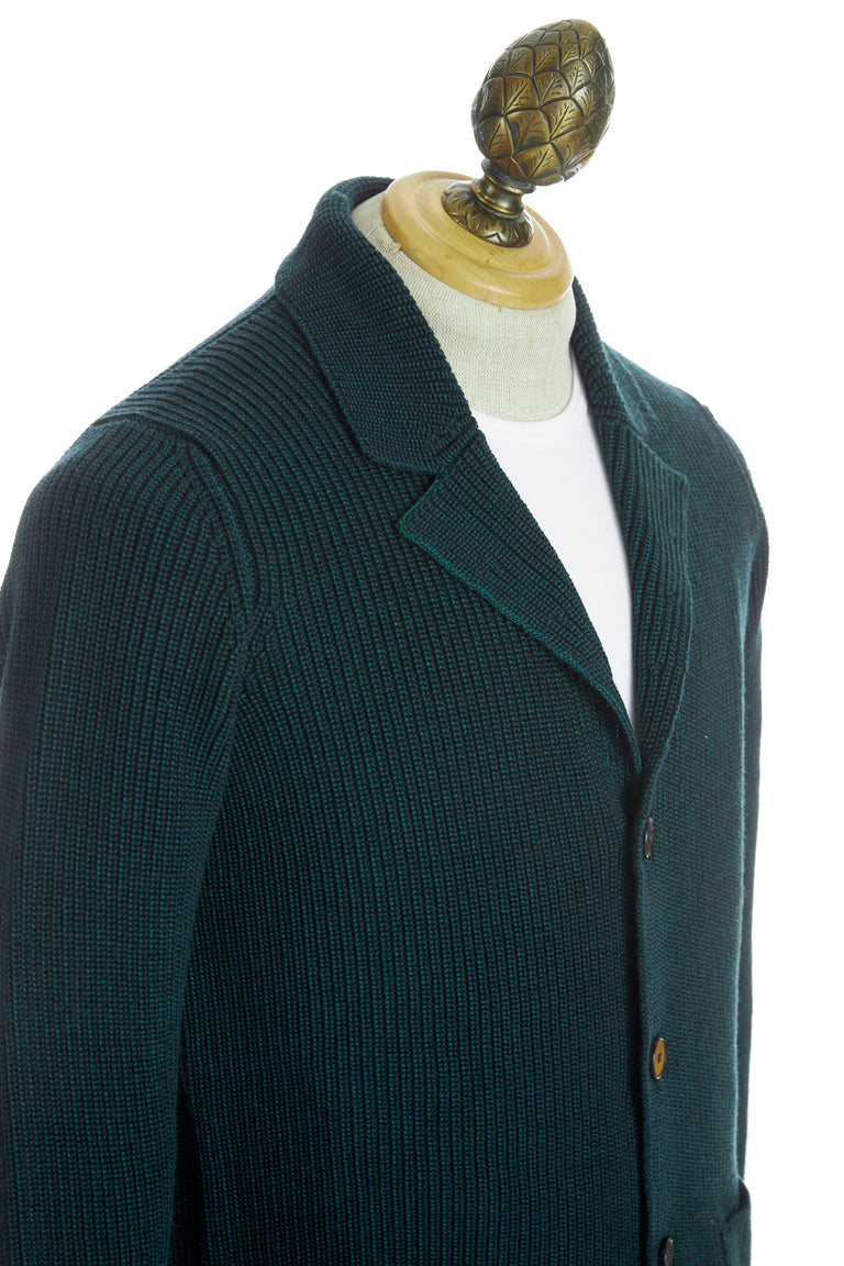 Roberto Collina Green Wool Sweater Jacket