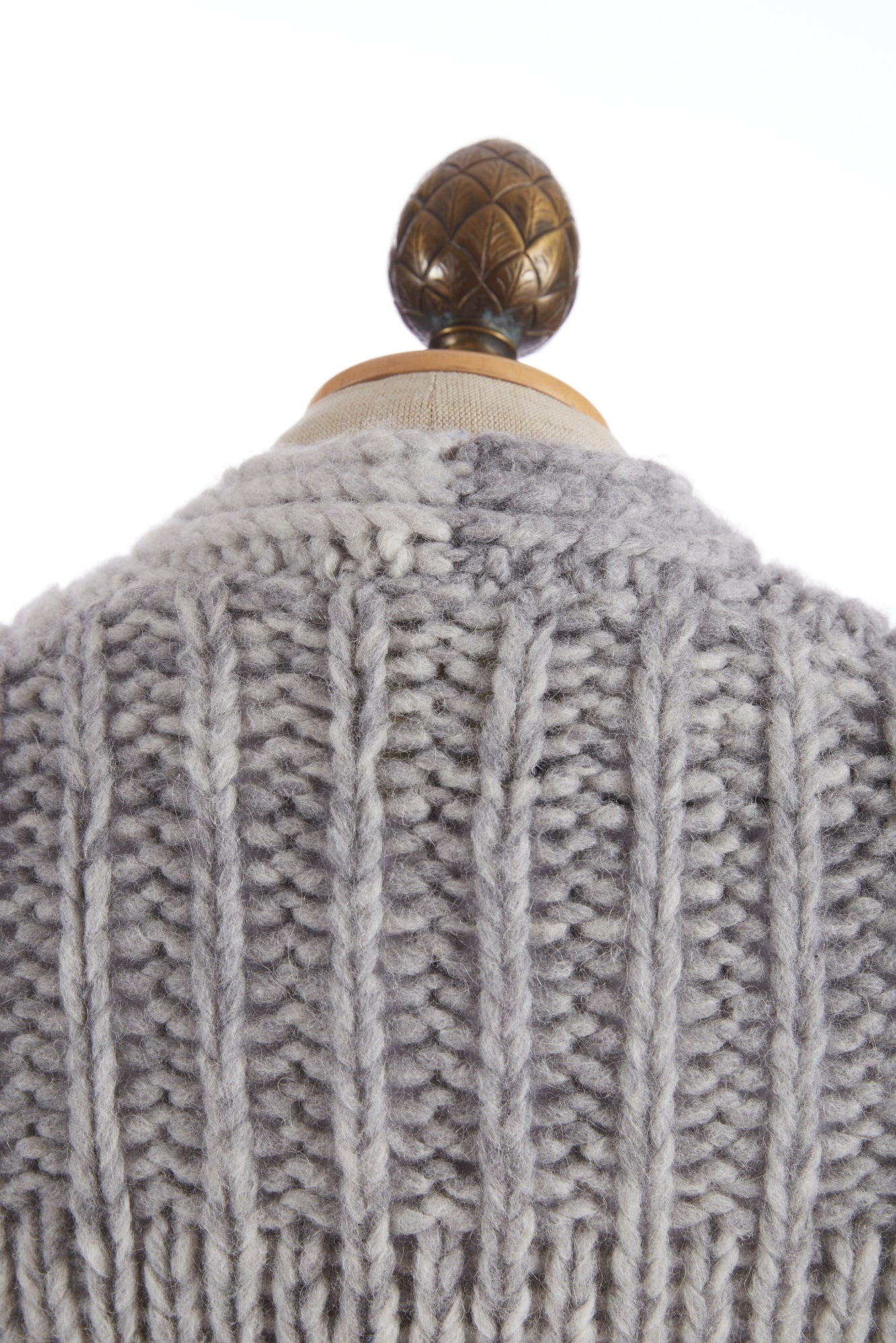 Roberto Collina Grey Dégradé Wool-Alpaca Cardigan