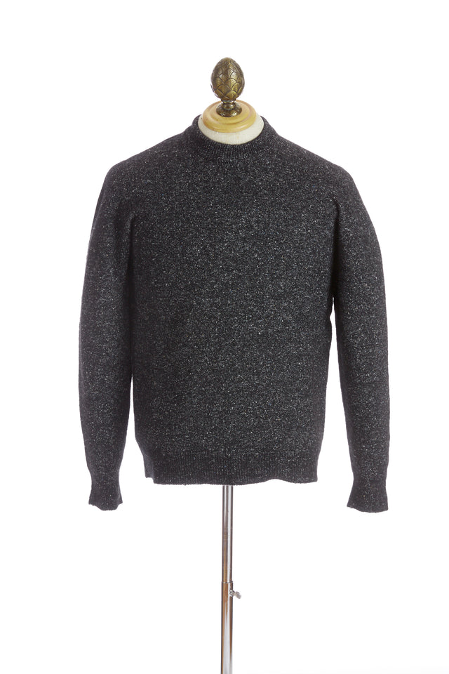 Roberto Collina Grey Melange Crewneck Sweater