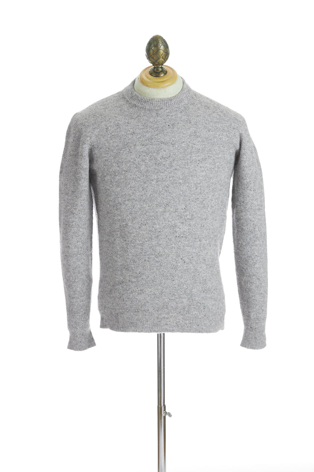 Roberto Collina Light Grey Melange Crewneck Sweater