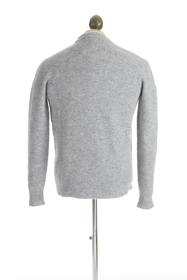 Roberto Collina Light Grey Melange Wool Crewneck Sweater