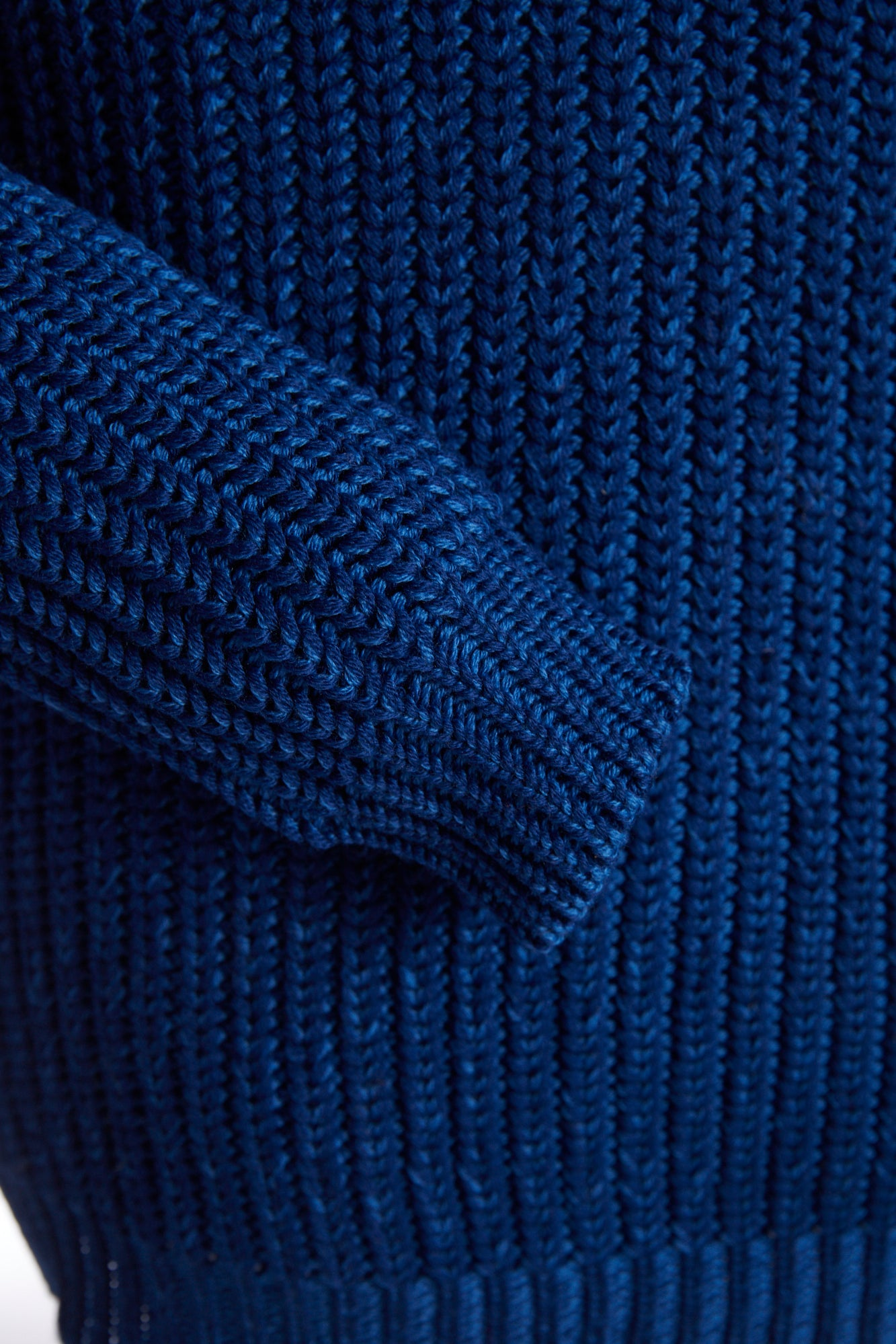 Roberto Collina Melange Blue Cable Knit Crewneck