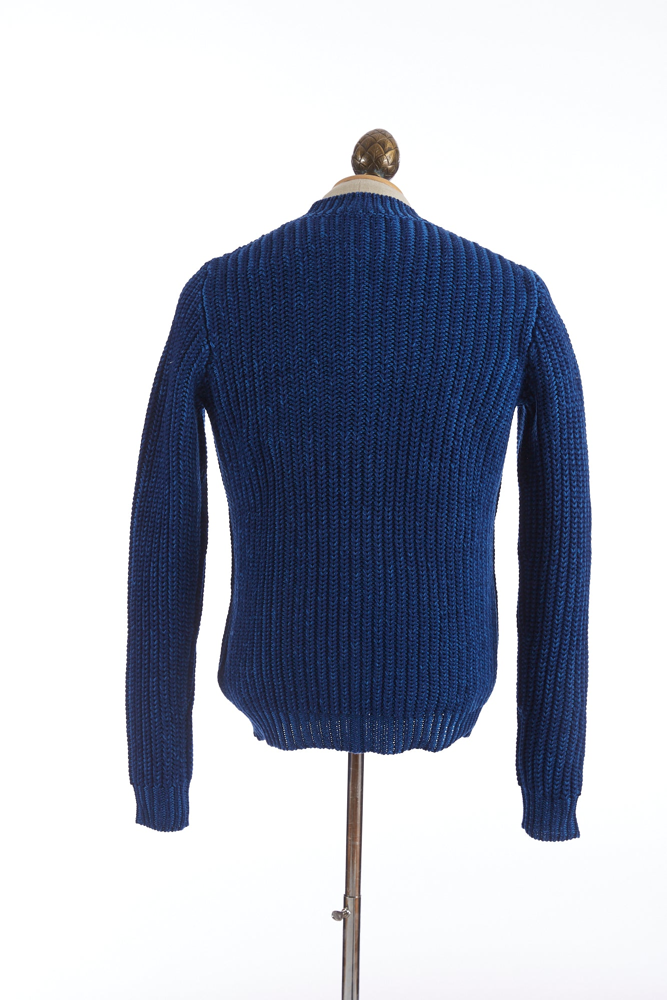 Roberto Collina Melange Blue Cable Knit Crewneck Sweater