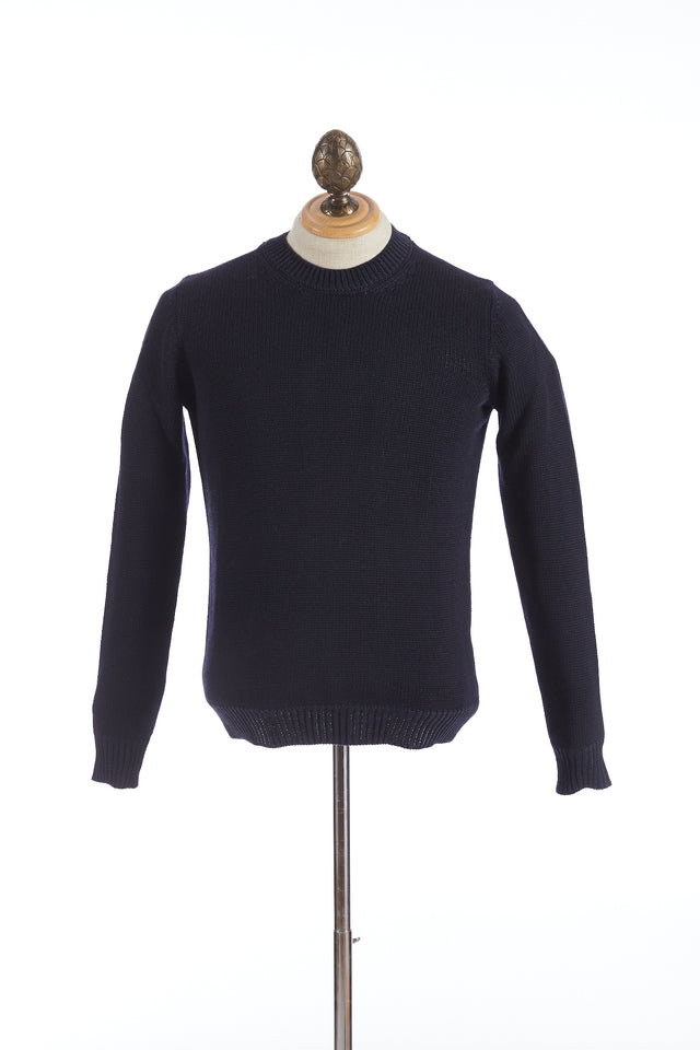 Roberto Collina Navy Wool Pullover Sweater