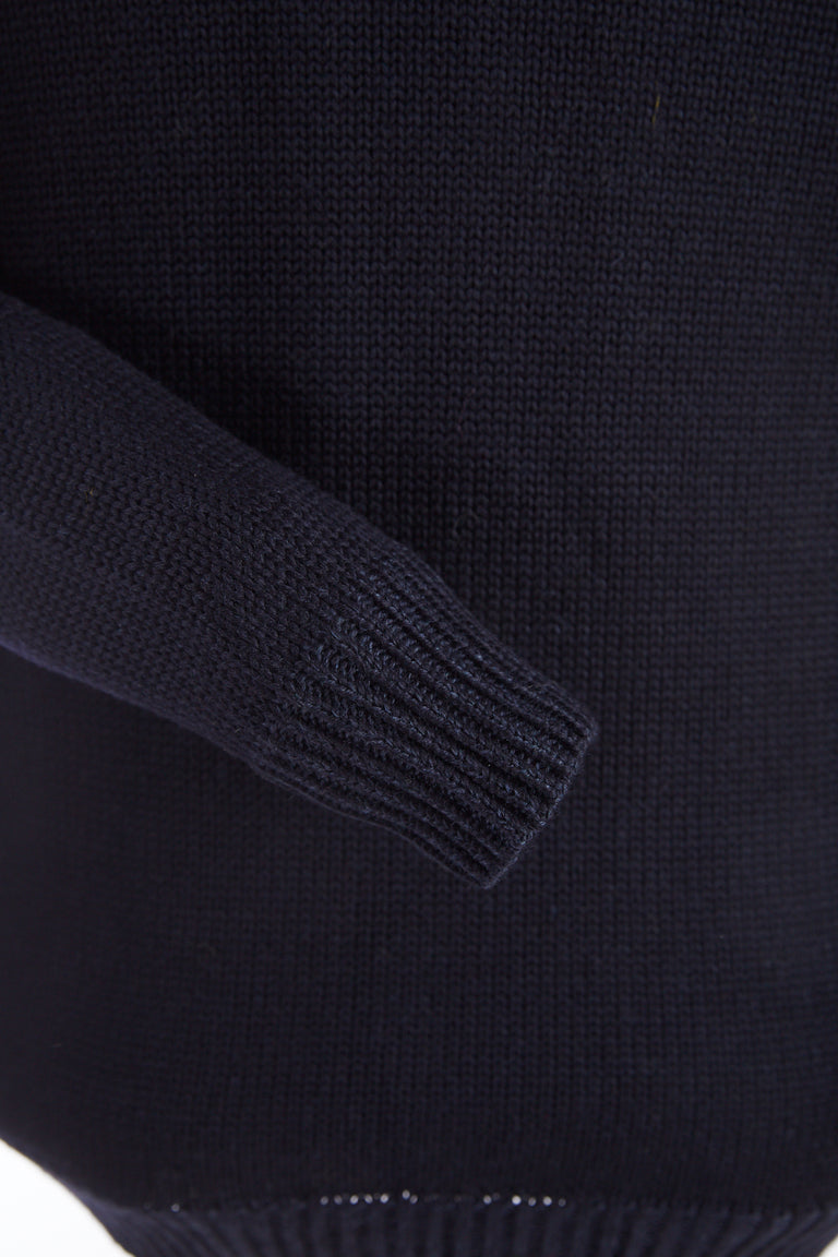 Roberto Collina Navy Wool Pullover Sweater Crewneck