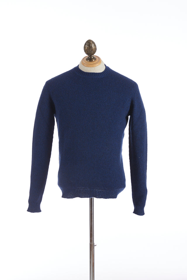 Roberto Collina Royal Blue Wool-Camel Pullover Sweater
