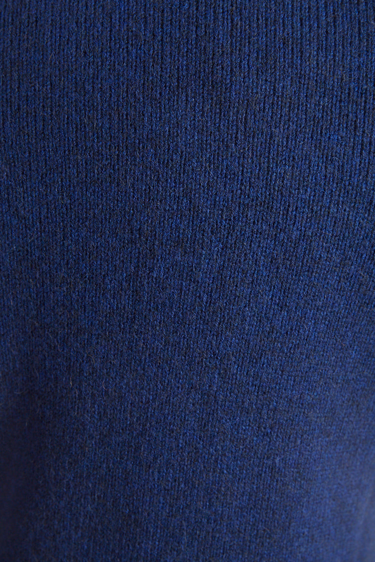 Roberto Collina Royal Blue Wool-Camel Sweater