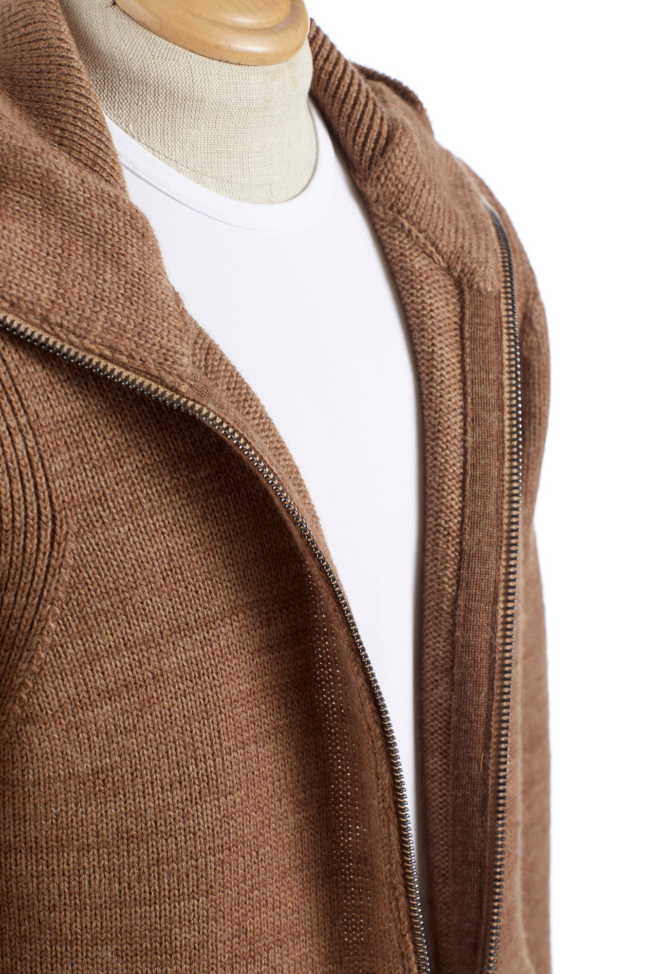 Roberto Collina Tan Hoodie Front