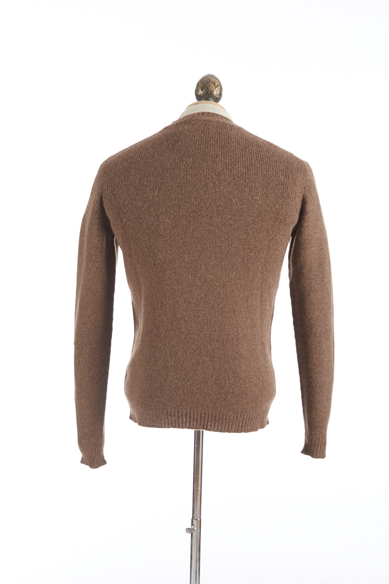 Roberto Collina Tan Wool-Camel Pullover Sweater
