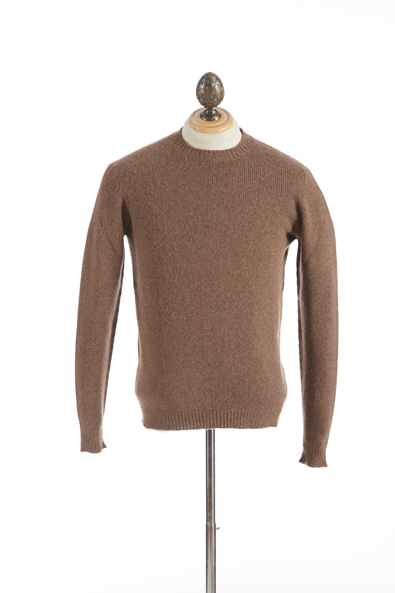 Roberto Collina Tobacco Wool-Camel Pullover Sweater