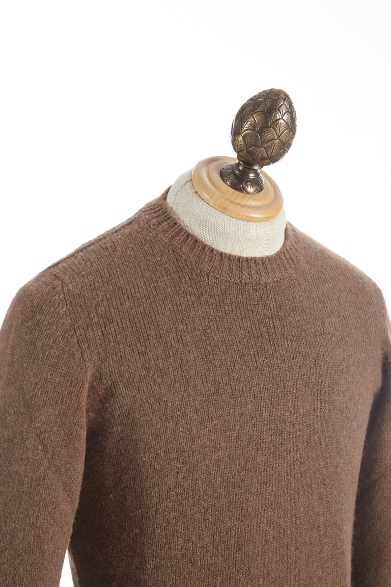 Roberto Collina Tobacco Wool Pullover Sweater