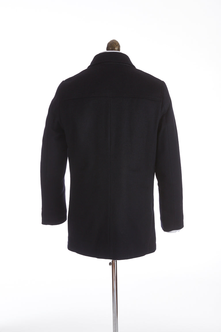 SAND Cashmere Black Car Coat