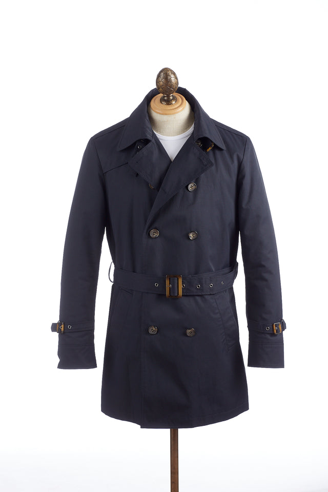 SAND Navy Double Breasted Trench Coat
