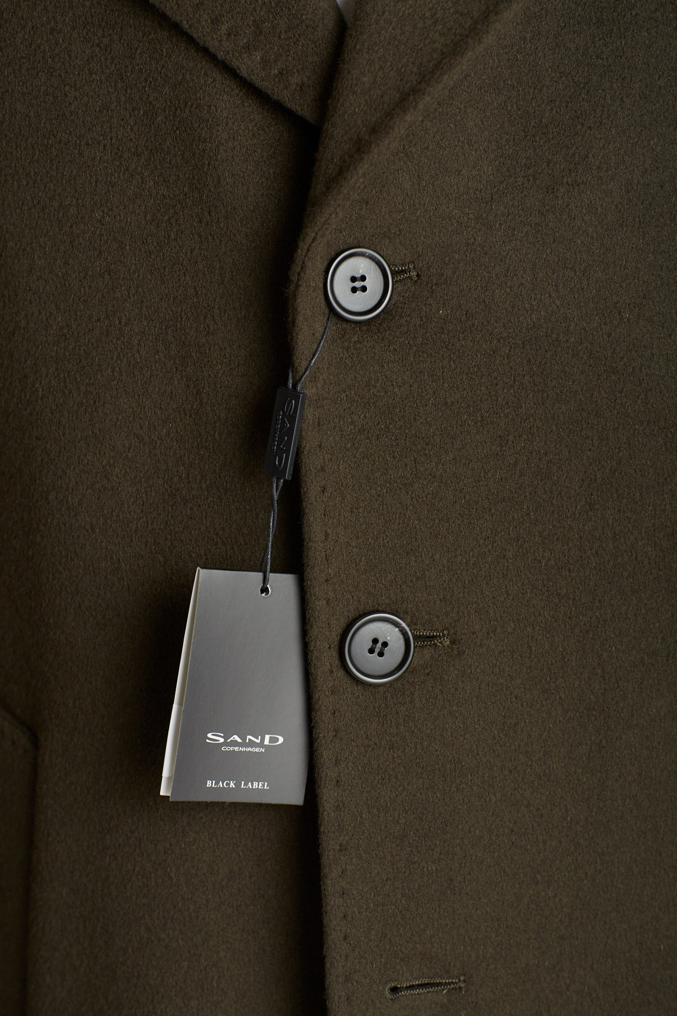 SAND Olive Green Wool-Cashmere Buttons