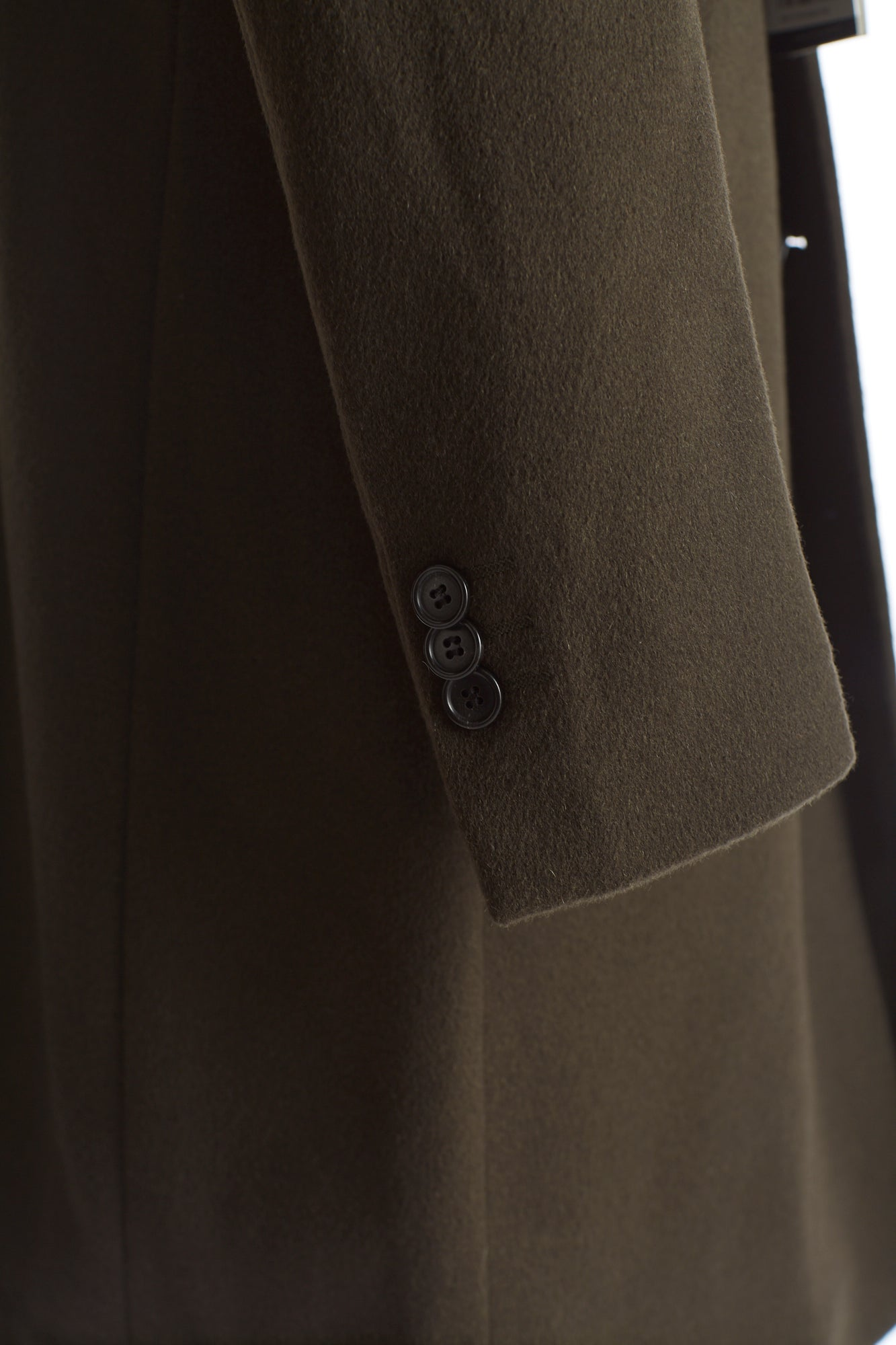 SAND Olive Green Wool-Cashmere Sleeve