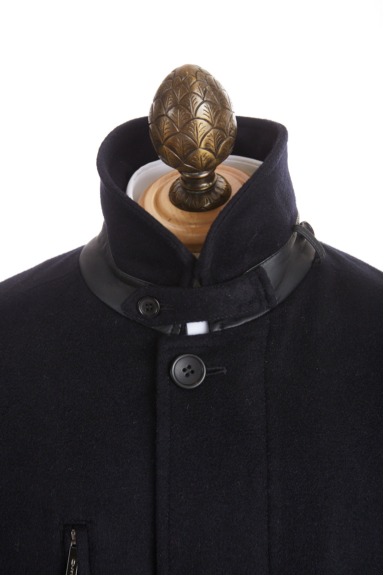 SAND Wool Black Car Coat