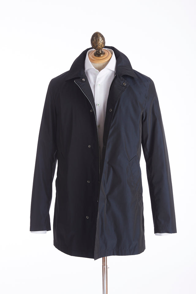 Sealup Navy Waterproof Mac Trench Coat