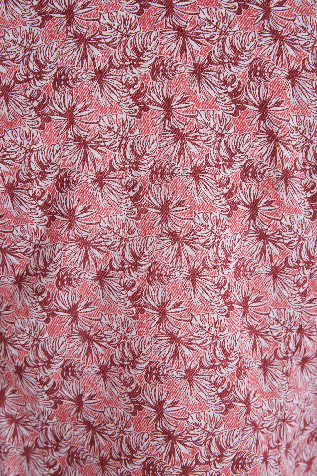 Tintoria Mattei Red Palm Tree Leaves Fabric